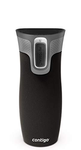 Contigo Unisex– Erwachsene West Loop Trinkflasche, schwarz, 470 ml