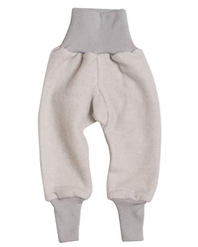 Cosilana Baby Hose mit Bund aus weichem Wollfleece, 60% Schurwolle kbT, 40% Baumwolle (KBA) (62/68, Grau Melange)