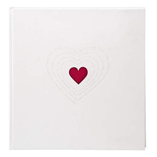 Goldbuch 27015 - Album Fotografico Ti Amo, 60 Pagine, 30 x 31 cm, Bianco
