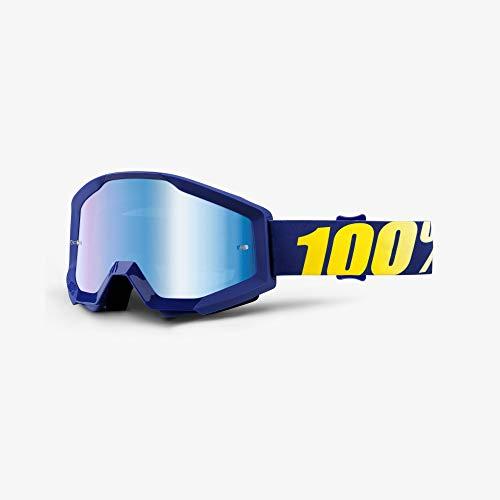 100% STRATA Brille Hope - Spiegel Linse, Blau , Größe One Size