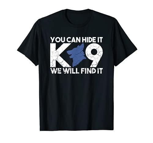 K9 Unit Police Dog Thin Blue Line K9 Police Officer Tribute T-Shirt