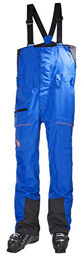 Helly-Hansen Mens SOGN Waterproof Shell Ski and Snowboard Bib Pant, 639 Electric Blue, Large