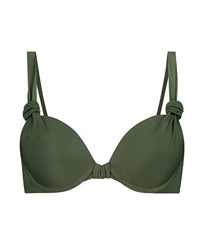 HUNKEMÖLLER Push-up Bikini-Oberteil Luxe Cup A - E grün 70A