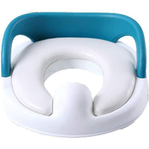 EMOOJOO Adaptador WC Orinal Bebe Reductor De Agua para NiñOs Asiento para IR Al BañO, con Protectores contra Salpicaduras, Manijas, para Aplicar En Inodoros Redondos Y Ovalados (Azul)