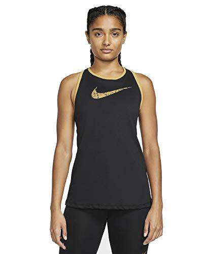 Nike Dry DFC Glam Dunk Debardeurs T-Shirt Femme, Black/Metallic Gold/Metallic G, FR : M (Taille Fabricant : M)