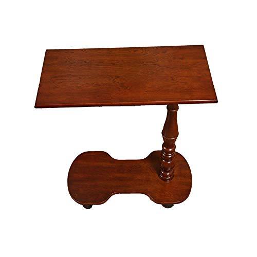 AI LI WEI Household Products/Furniture Sala móvil Sofá Mesa Lateral de Madera Café Mesa Auxiliar Escritorio del Ordenador portátil W/Rueda y Almacenamiento del Estante 62 * 36 * 70cm