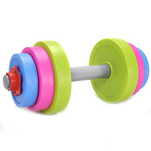 Liberty Imports Adjustable Dumbbell Toy Pretend Workout Set for Kids Gym Exercise - Fill with Beach Sand or Water!