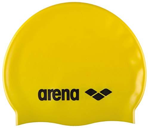 Arena - Cuffia Da Bagno Classica In Silicone, Per Bambini, Nuoto, Bambini, 91670, Giallo, Taglia Unica