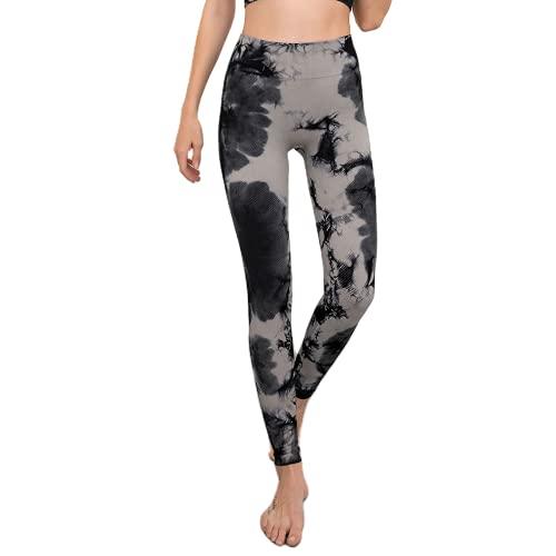 Moda Mujer Pantalones de Yoga sin Costuras Push-ups Fitness Pantalones para Correr Cintura Alta Levantamiento de Cadera Leggings de Entrenamiento de energía A L
