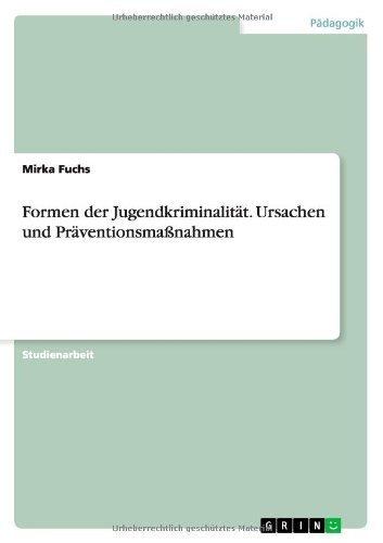 Formen der Jugendkriminalität. Ursachen und Präventionsmaßnahmen von Mirka Fuchs (9. Juli 2013) Taschenbuch