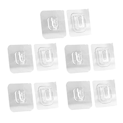 Fenteer Ganchos No Adhesivos Sin Rastro para Cocina Transparentes Reutilizables