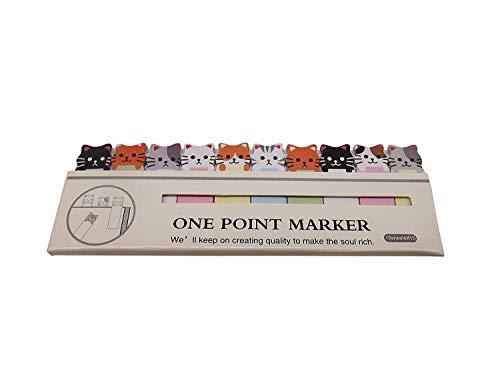 Vektenxi Convenience Cartoon Sticker Lesezeichen Notizzettel Notizblöcke Tab Haftnotizen Marker Schreibwaren Katzen Kreativ und nützlich