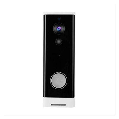 YQQQQ Videoportero Inteligente Videoportero IP Inteligente Videoportero WI-FI Teléfono Timbre de Puerta Timbre WiFi Cámara (Color : Black)