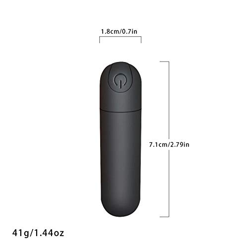 G Spot Bullet Dildo Vibrator Nipple Clitoris Stimulator USB Rechargeable for Travel - 10 Modes Portable Waterproof Mini Orgasm Vaginal Anal Massager Adult Sex Toys for Women(Black)