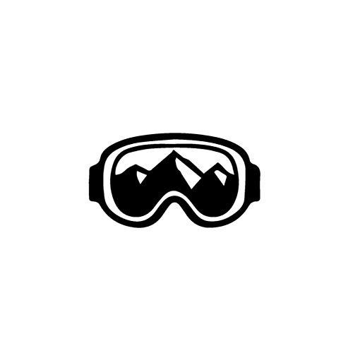 JKGHK Calcomanías de vinilo para coche con gafas de snowboard, 12,7 x 7,1 cm, color negro y plateado