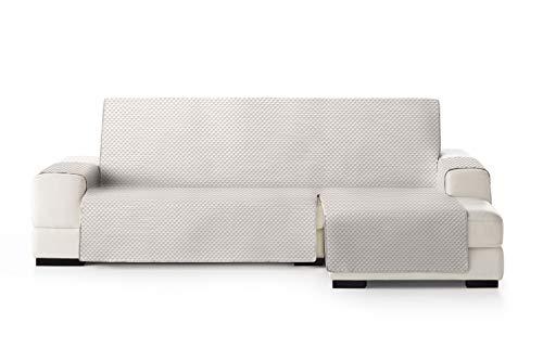 Eysa Oslo Funda, Poliéster, Crudo/Visón, Chaise Longue 240cm. Válido para sofá Desde 250 a 300cm