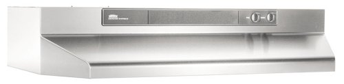 Broan-NuTone 463004 Under-Cabinet Range Hood with Infinitely Adjustable Speed Control, 30-Inch, Stainless Steel