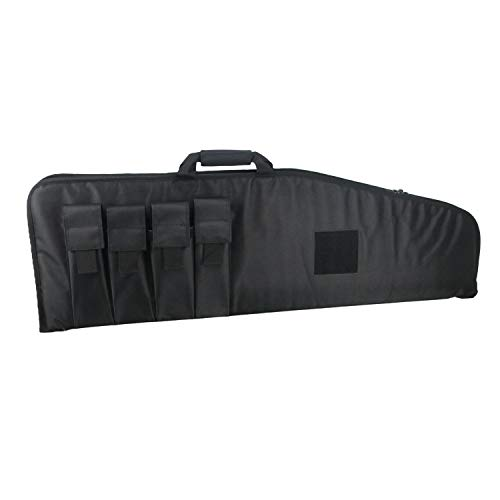 LQARMY 40 inch Rifle Bag Outdoor Tactical Carbine Cases Water dust Resistant Long Gun Case Bag with 4 Magazine Pouches for Hunting Shooting Range Sports Storage and Transport