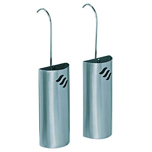 Metrox 11500 Luftbefeuchter aus Edelstahl (2er-Set, für Heizkörper, Raumbefeuchter, Form halbrund, zum Einhängen)