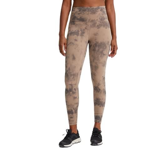 Pantalones de Yoga de Color para Mujer, Nalgas de Cintura Alta Desnudas, Medias de Yoga, Estiramiento Anti-Cuclillas, Pantalones de Fitness de Secado rápido DM