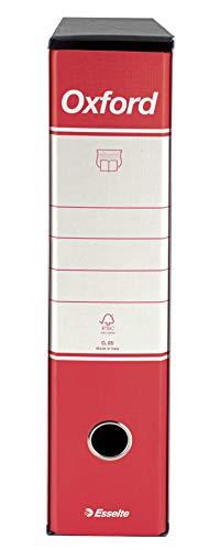 ESSELTE G85 OXFORD Registratore - f.to protocollo dorso 8 cm - Rosso - Confezione da 6 pezzi - 390785160