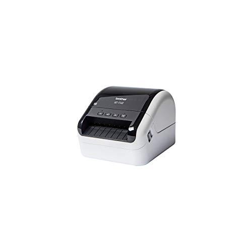 Brother QL1100 Professioneller Etikettendrucker mit 4 Zoll, 69 Etiketten pro Minute, USB, 300 x 600 DPI, automatischer Schnitt, Grau und Schwarz