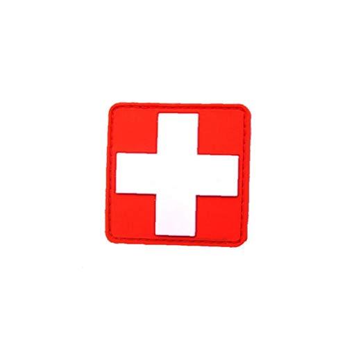 Liadance Cruz Roja Medic Brazalete De PVC 3D 1pc Cruz Roja Cruz Placa De Goma del Remiendo del Brazal Rojo