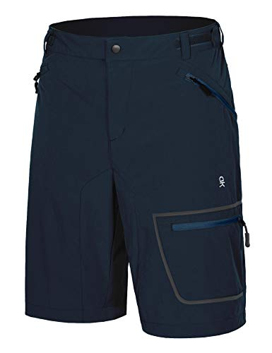 Little Donkey Andy Men's Lightweight Quick-Dry Hiking Shorts Stretch Breathable Sun Protection Outdoor Cargo Shorts Navy S