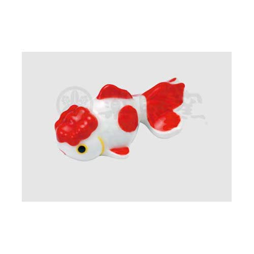 薬師窯(yakushigama) 金魚コレクション 金魚箸置き(オランダ・赤) アニマル 高さ2.5cm なつかし屋 9565