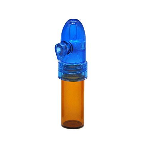 MundM Smartek Dosierer Portionierer Snuff sniff Bottle Sniffer Spender Dispenser Farben Deutschland 67mm (Blau/Braun)