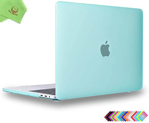 MacBook Pro 15 inch Case 2019 2018 2017 2016, UESWILL Smooth Matte Hard Case for MacBook Pro 15 inch with Touch Bar & USB-C (Model: A1990 / A1707) + Microfibre Cleaning Cloth, Green