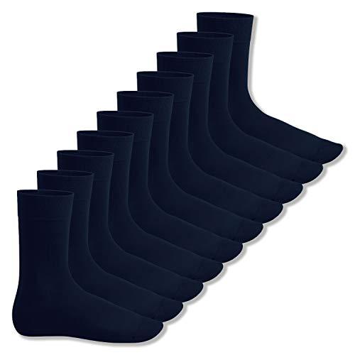Footstar Herren & Damen Baumwollsocken (10 Paar), Klassische Socken aus Baumwolle - Everyday! - Marine 39-42