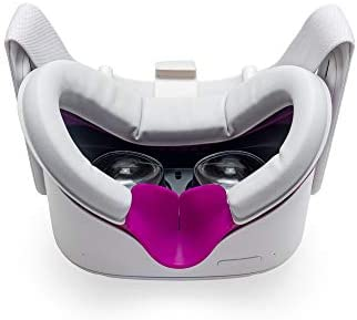VR Cover Facial Interface and Foam Replacement Set for Oculus Quest 2 Magenta Light Grey product image