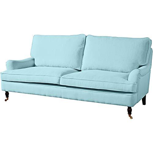 Max Winzer Sofa Passion155 3-Sitzer | 2-geteilt | Aus Flachgewebe in Aqua