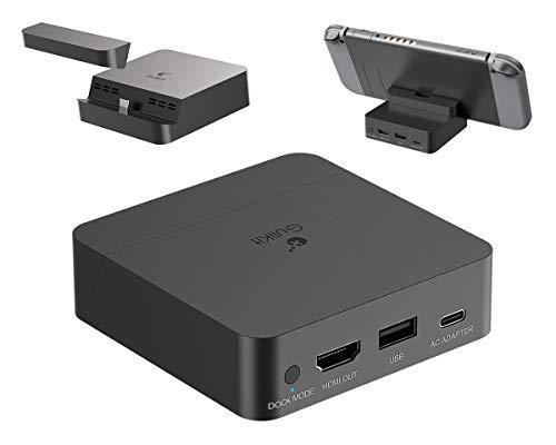 Tragbares TV Dock, ElecGear Ladestation für Nintendo Switch, 4K 2K 1080P Video Docking Station, HDMI Adapter Video Konverter, Ersatzdock mit USB C PD Ladegerät für Switch Lite und Smartphones