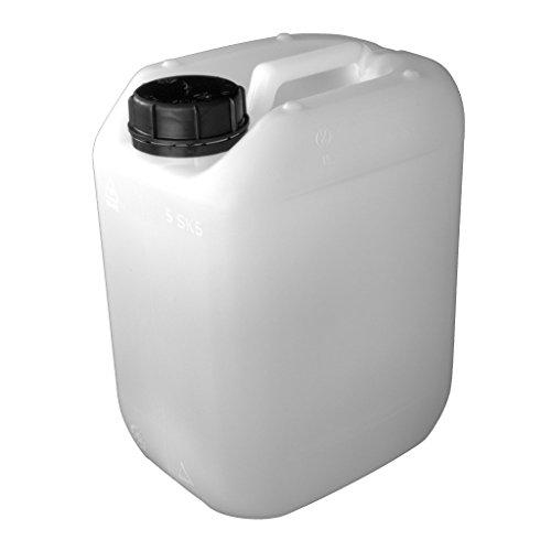 Kanister aus HD-PE (natur) mit Lebensmittelfreigabe, unbefüllt (5 Liter)
