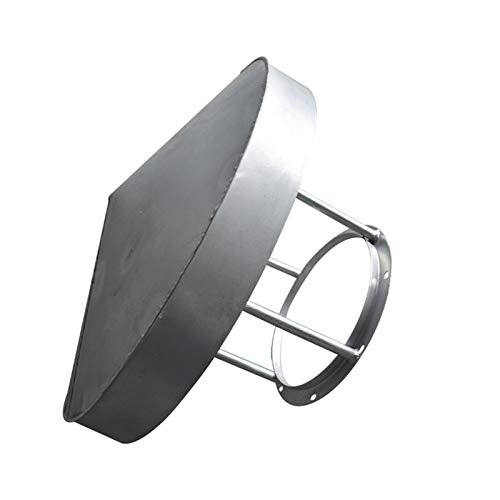 SYLTL Sombrero Extractor, Sombrero Chimenea Acero InoxidableCubierta Protectora Tapa Protectora Cubierta del Techo Final para Conductos De Ventilación Cap Rain Hat Hood, Anti-Nieve