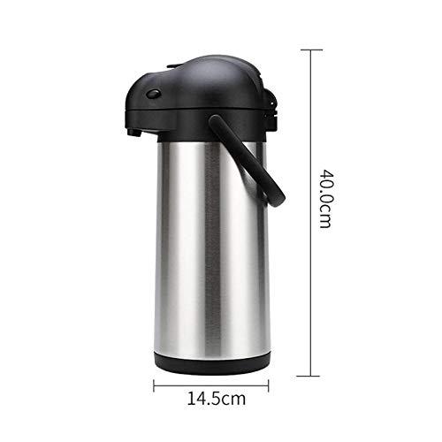 Jingyinyi Pneumatische thermoskan, roestvrij staal ketel thermoskan, huishoudelijke pers, 3L kokend water fles, Kleur: wit
