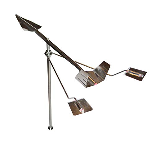 Amusingtao Wind Direction Indicator Stainless Steel sy Install Yard Anti Corrosion Practical Measu Tools Home of Mount Garden Decor Farm Durable Boat Ship Weather Vane