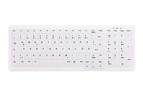 Active Key AK-C7000F-FU1-W/GE Kabellose Hygiene PC-Tastatur, USB, 2.4GHz Funk Weiß