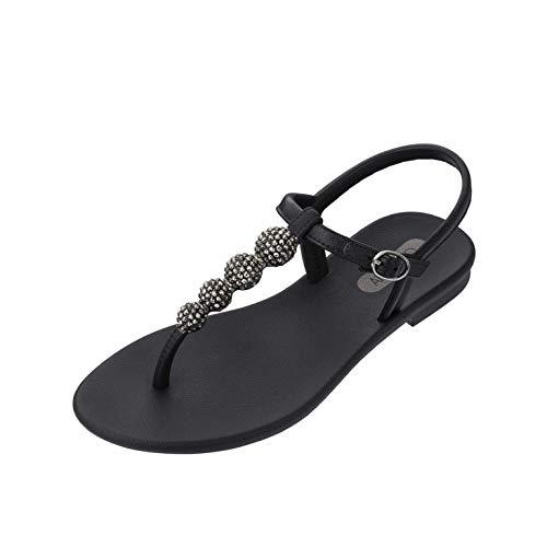 Grendha CACAU Sandal Fem Negro Chanclas para Mujer (Numeric_41_Point_5)