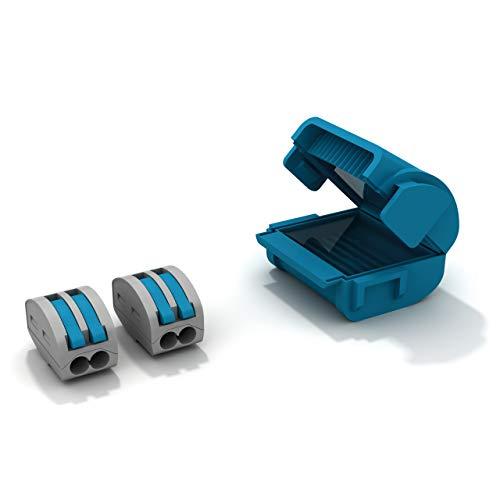 Etelec Shell Box Gerät Verbindung Gel Schutz Wasser IPX8 Kabel Klein Abschnitt 0,2-4 mm2 2 Pole Anschluss inklusive 2 Vie für Polo MJB222