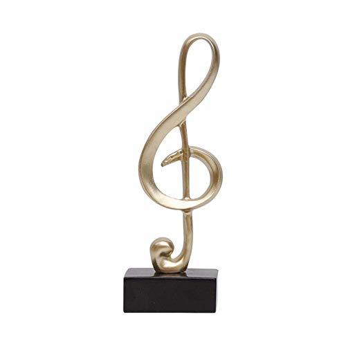 LYTBJ Esculturas para el hogar Trofeo de música Minimalista Stave Símbolo de música Piano Habitación Estatua Artesanía Accesorios de decoración del hogar Regalos de cumpleaños