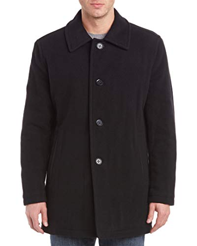 Cole Haan Signature Men's Wool Plush Car Coat, Charcoal, Small