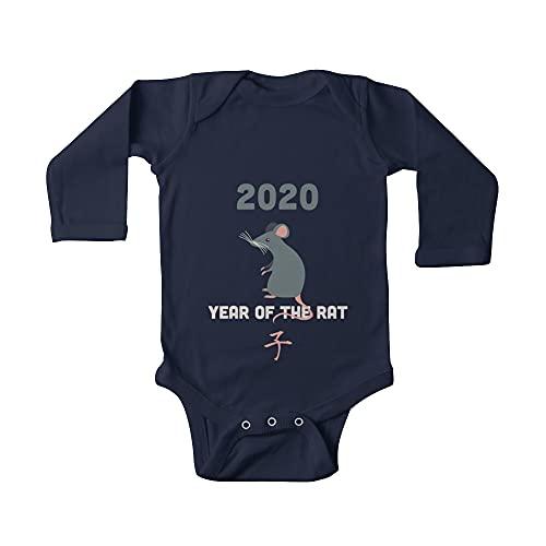 Huang Año chino de la rata 2020 bebé de una pieza