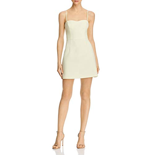 French Connection Womens Whisper Light Sheath Mini Cocktail Dress Yellow 8