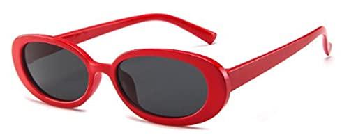 ShZyywrl Gafas De Sol De Moda Unisex Gafas De Sol Ovaladas Pequeñas para Mujer, Tonos Clásicos De Hip Hop, Gafas De Sol Redondas con Estampado En Blanco Y Negr
