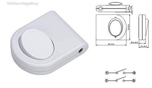Preisvergleich Produktbild Fußschalter,  3-pol (2),  250V,  3A,  Schnur-Schalter mit Schraubkontakten für 2- und 3-adrige Lampenkabel,  Mit Erdungsanschluss,  mit Interne Zugentlastung