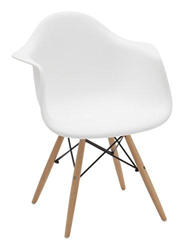 White Loft, LF441, Poltrona, Bianco, 62 x 62 x 82 cm
