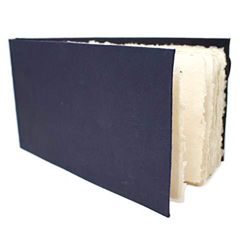 Artway 2303260 Indigo Rag Book Aquarell-Skizzenbuch, Paper, Weiß, Panorama/Querformat-270 x 148,5 mm